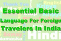 Essential basic language for foreign travelers in India